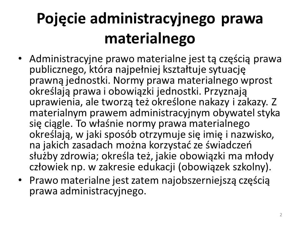Pojęcie administracyjnego prawa materialnego