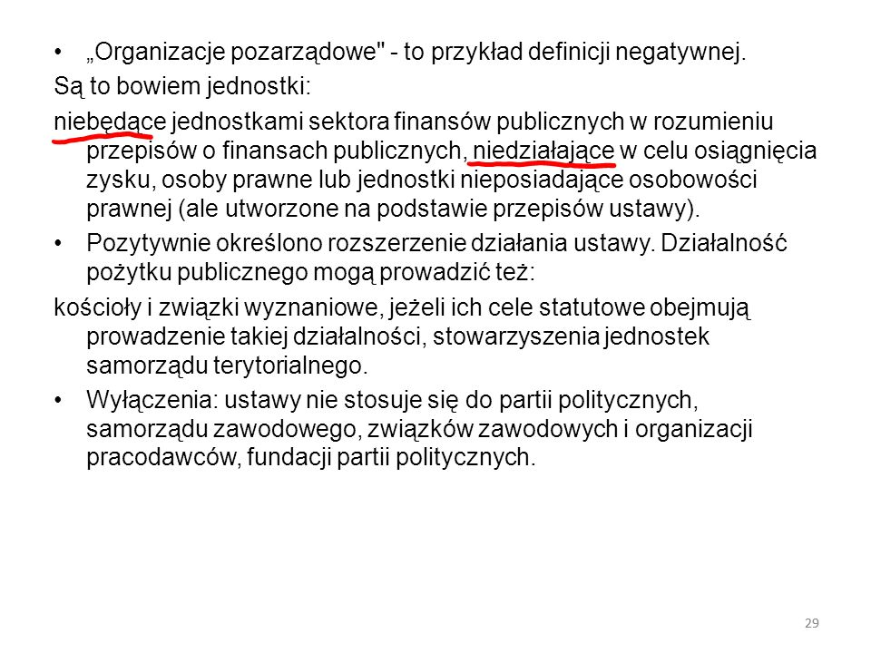 """""""Organizacje pozarządowe - to przykład definicji negatywnej."""
