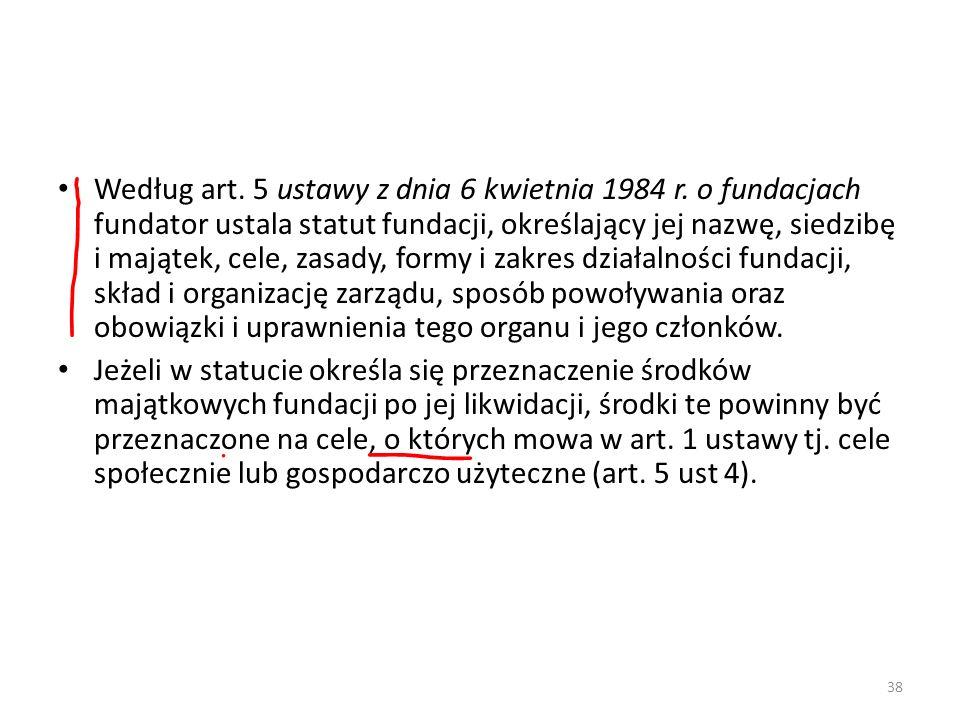 Według art. 5 ustawy z dnia 6 kwietnia 1984 r