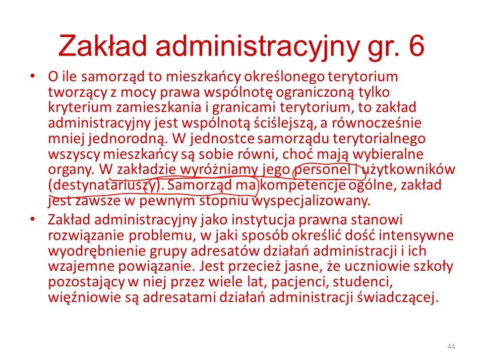 Zakład administracyjny gr. 6