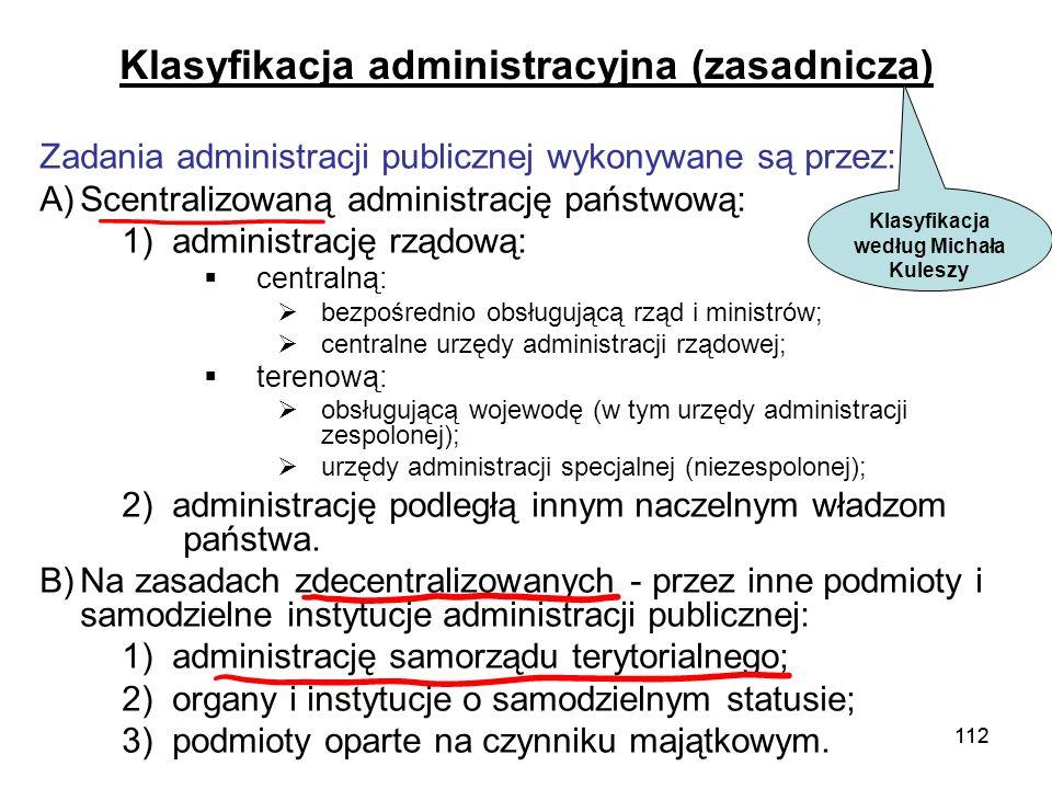 Klasyfikacja administracyjna (zasadnicza)