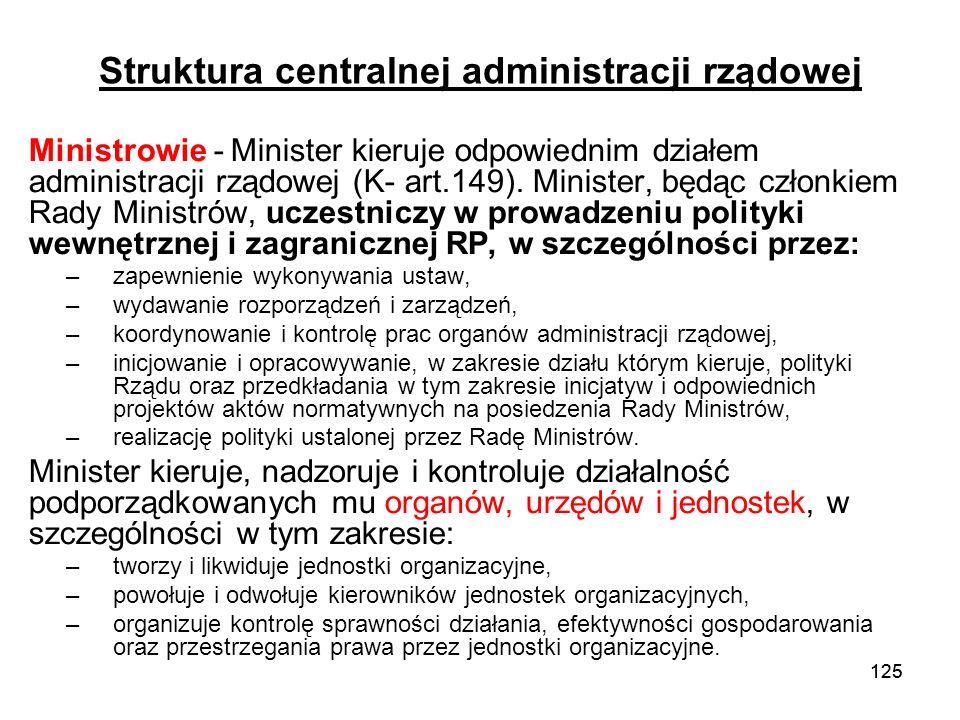 Struktura centralnej administracji rządowej