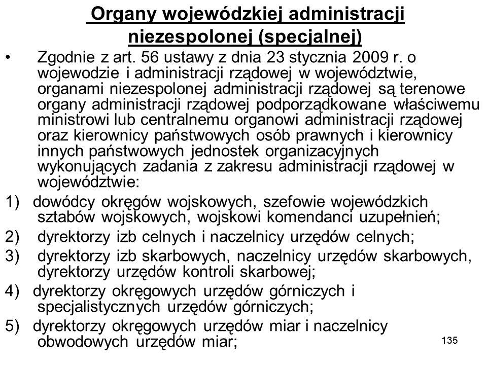 Organy wojewódzkiej administracji niezespolonej (specjalnej)