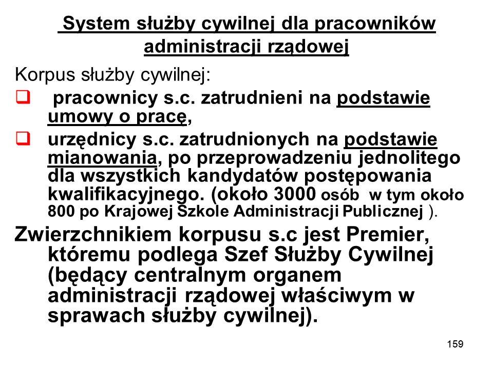 System służby cywilnej dla pracowników administracji rządowej