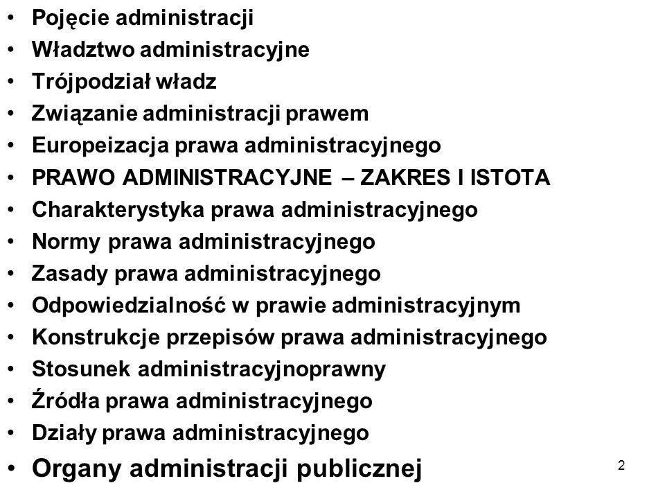 Organy administracji publicznej