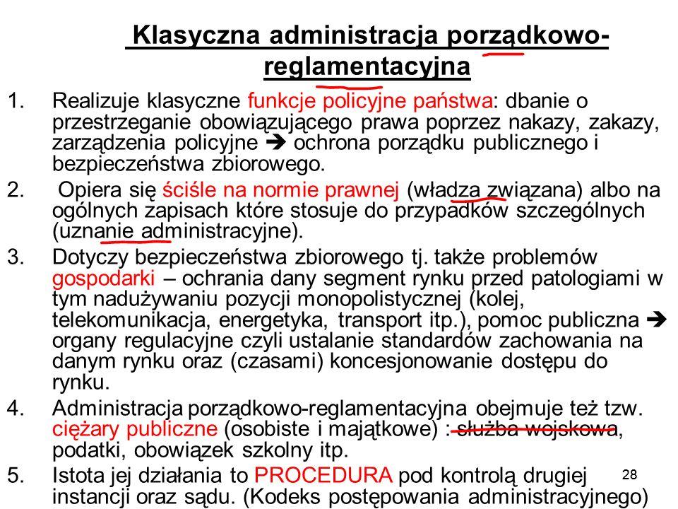 Klasyczna administracja porządkowo-reglamentacyjna