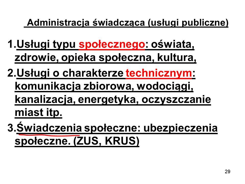 Administracja świadcząca (usługi publiczne)