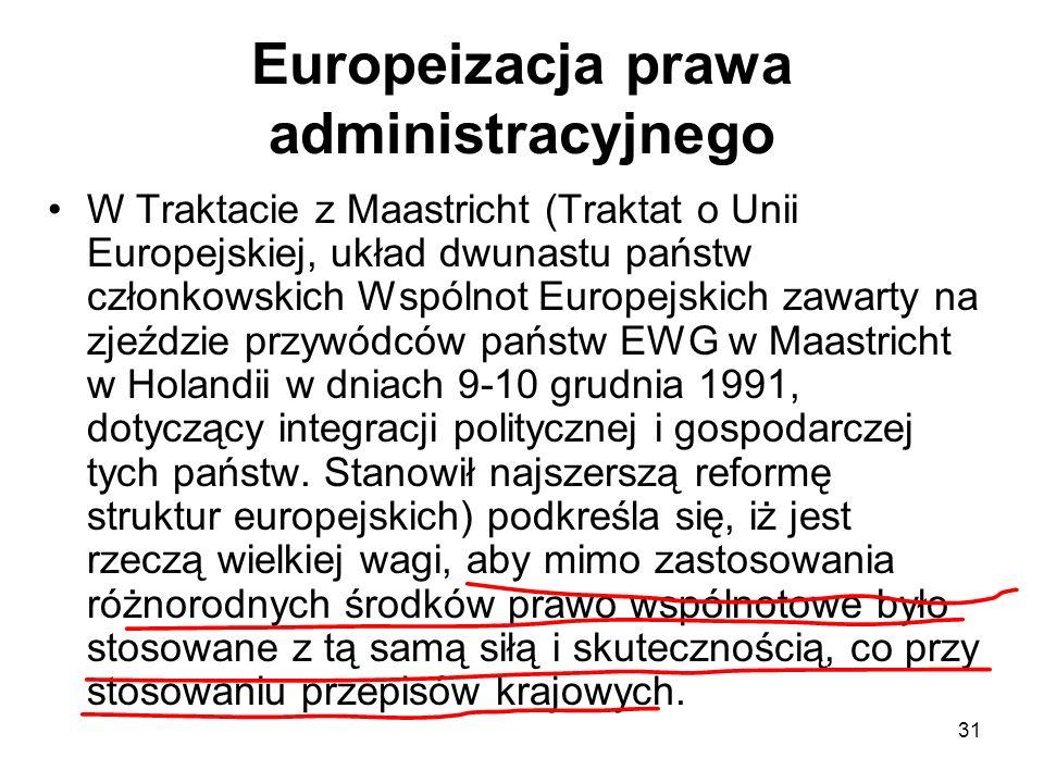 Europeizacja prawa administracyjnego