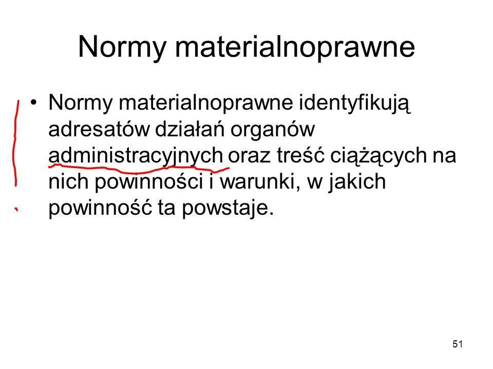 Normy materialnoprawne