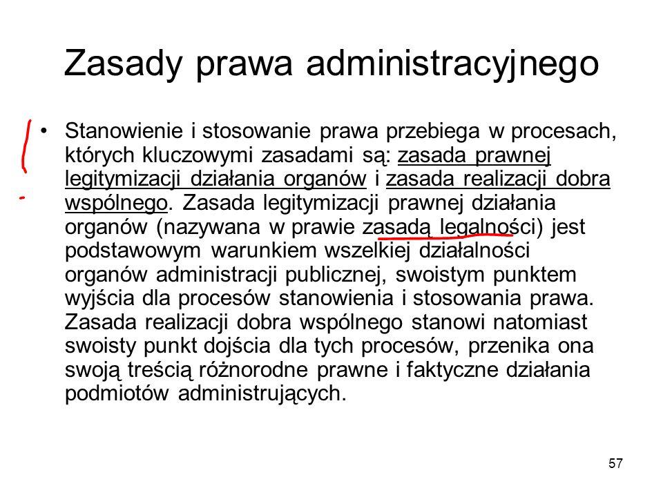Zasady prawa administracyjnego