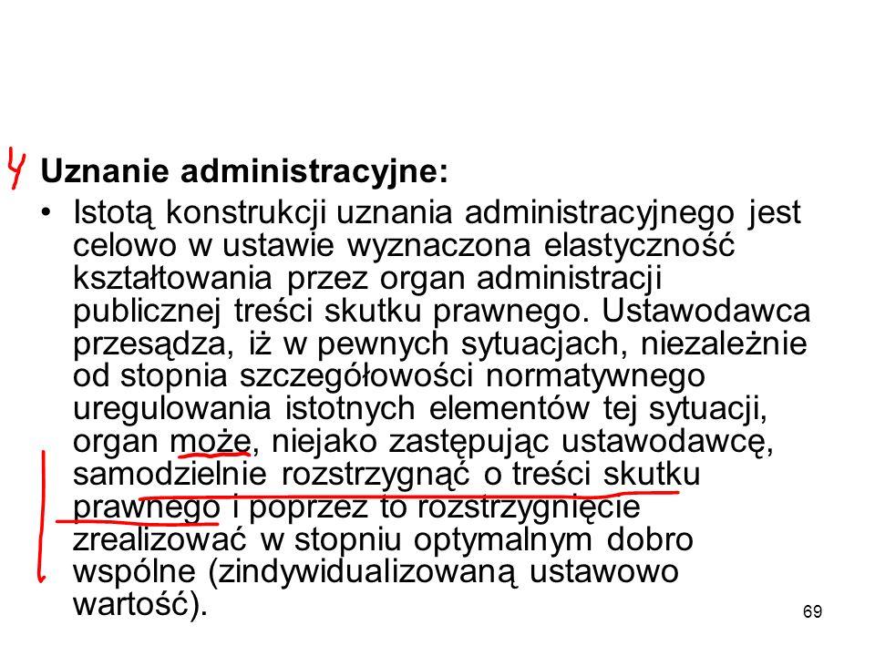 Uznanie administracyjne: