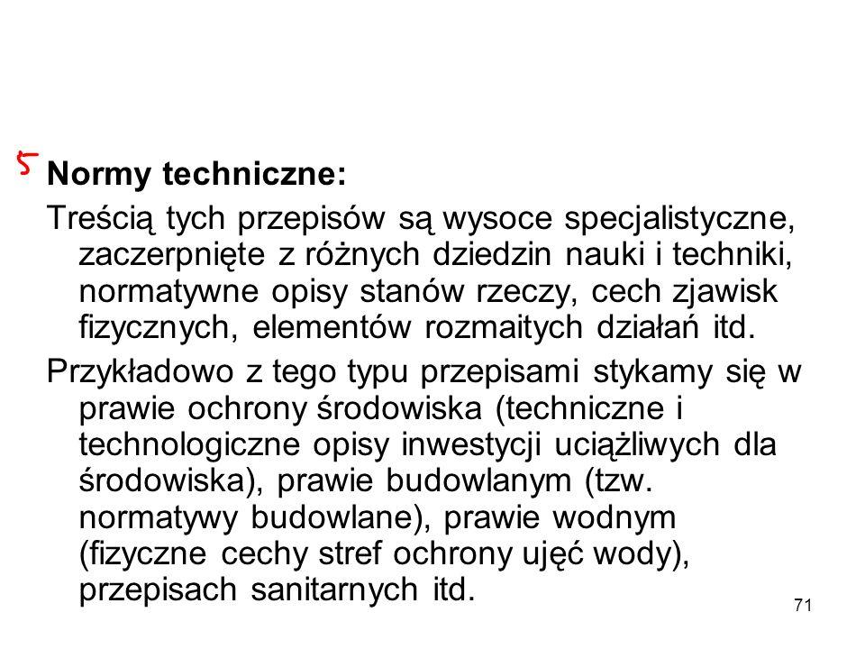 Normy techniczne: