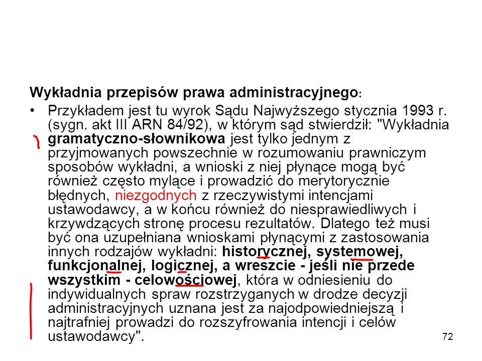 Wykładnia przepisów prawa administracyjnego: