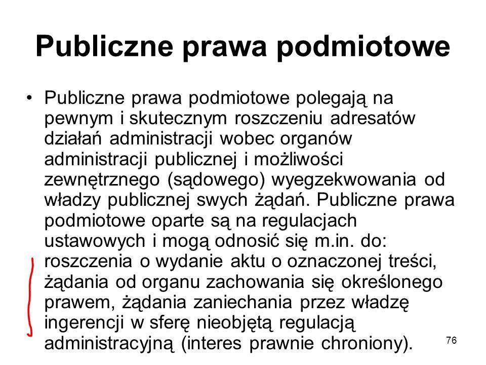 Publiczne prawa podmiotowe