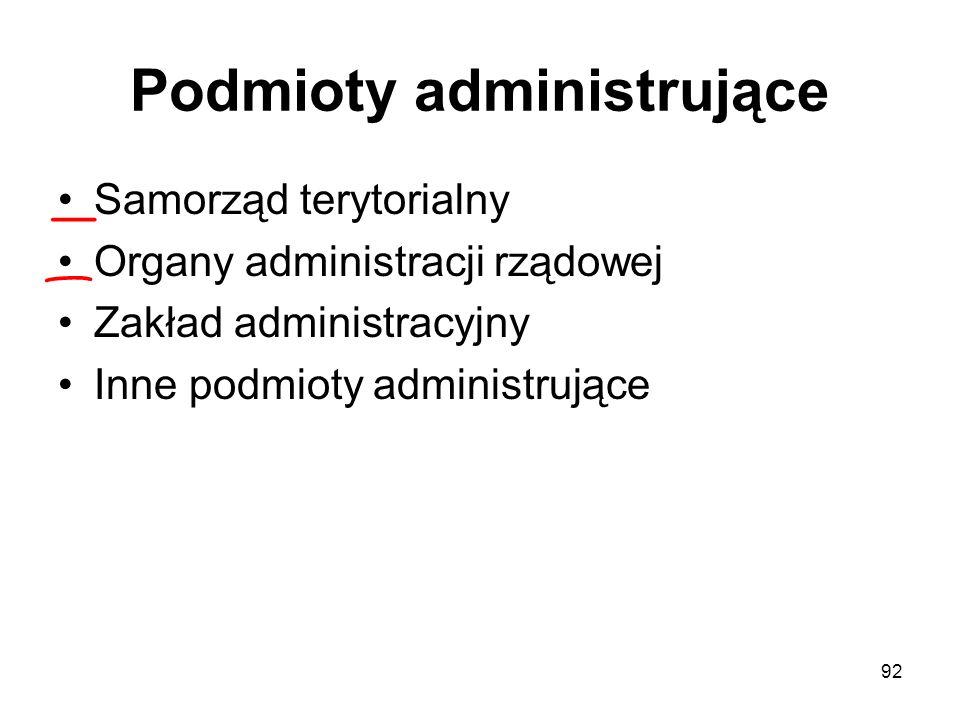 Podmioty administrujące