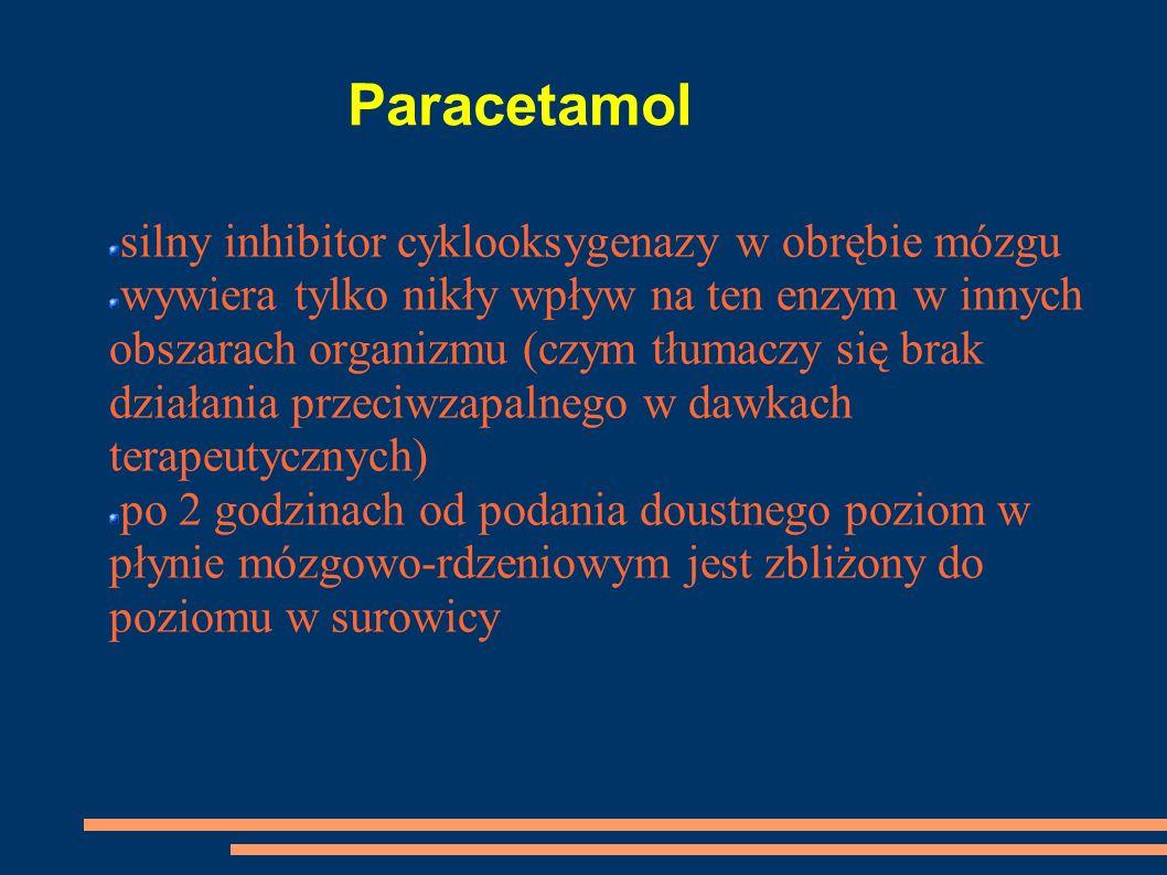 Paracetamol silny inhibitor cyklooksygenazy w obrębie mózgu