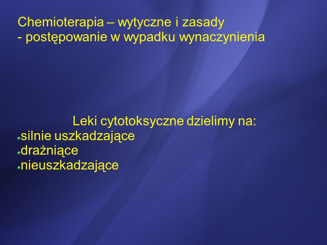 Leki cytotoksyczne dzielimy na: