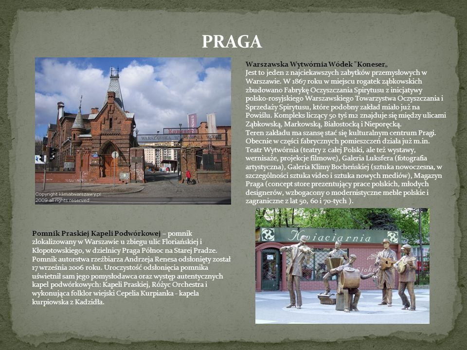 "PRAGA Warszawska Wytwórnia Wódek Koneser"""