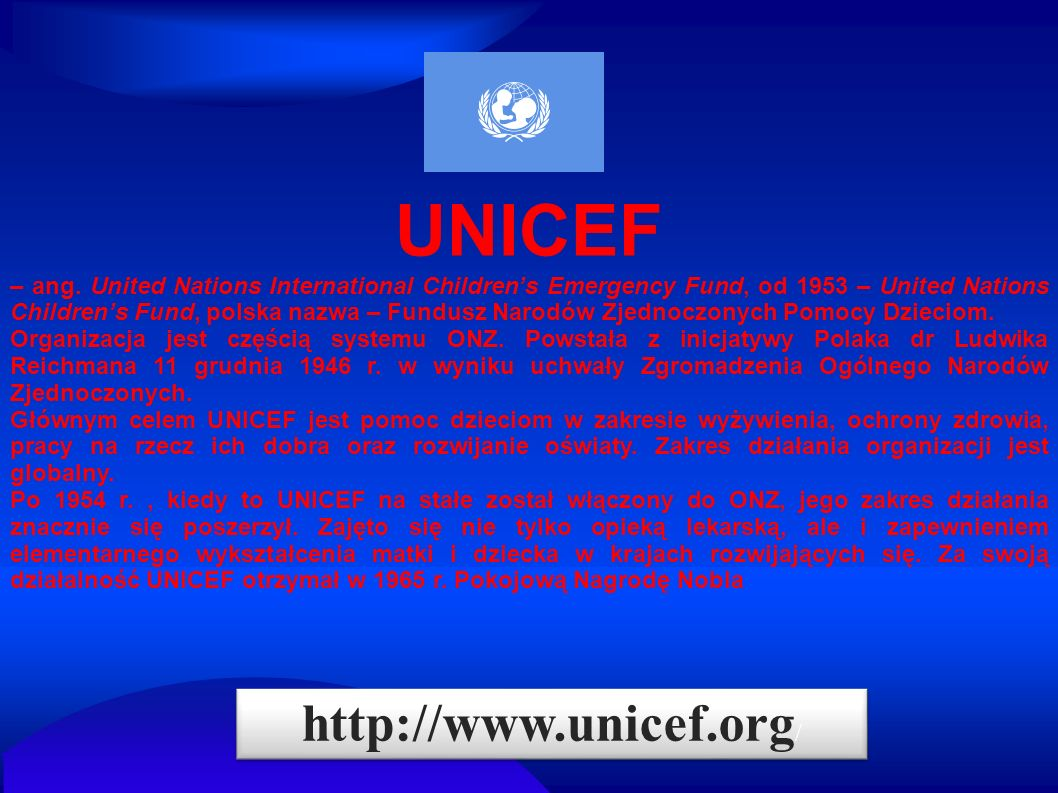 UNICEF http://www.unicef.org/
