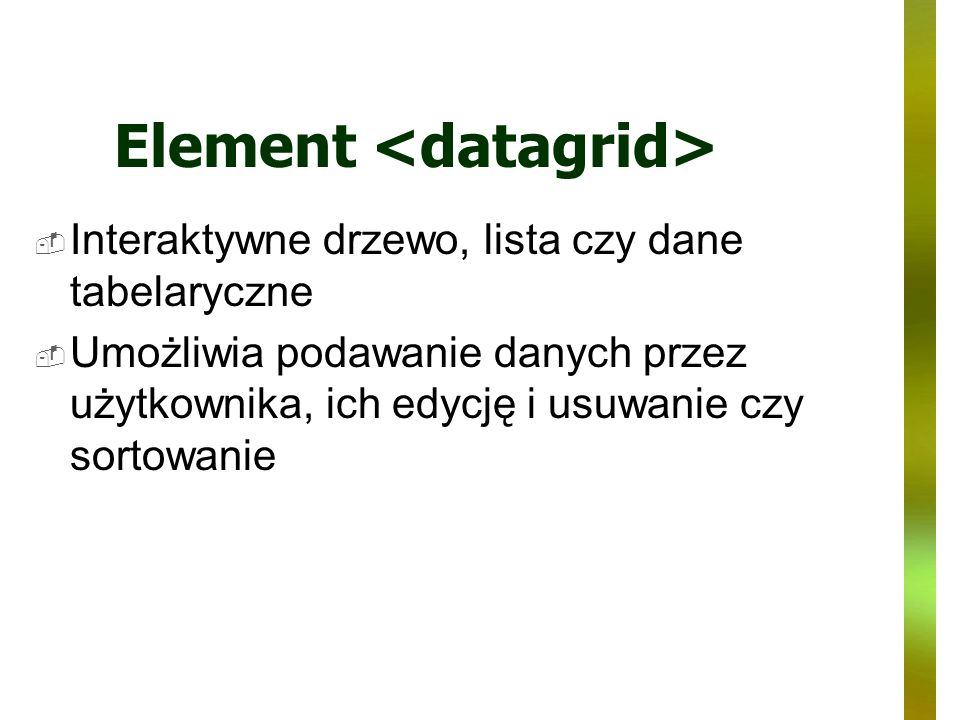 Element <datagrid>