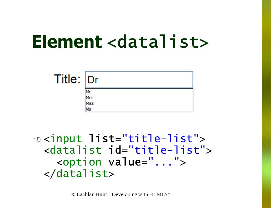 Element <datalist>