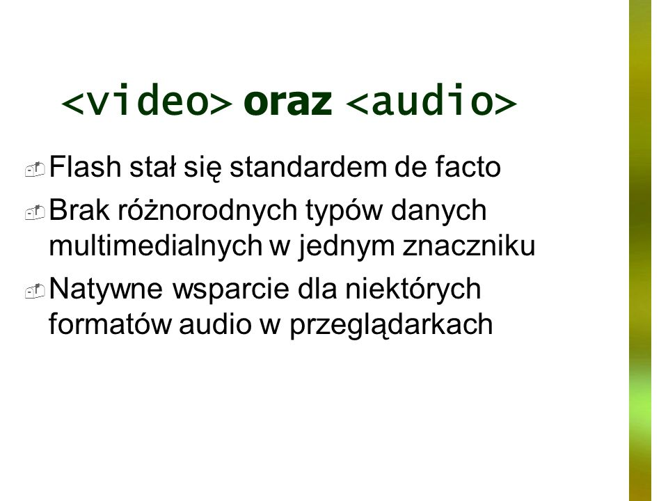 <video> oraz <audio>