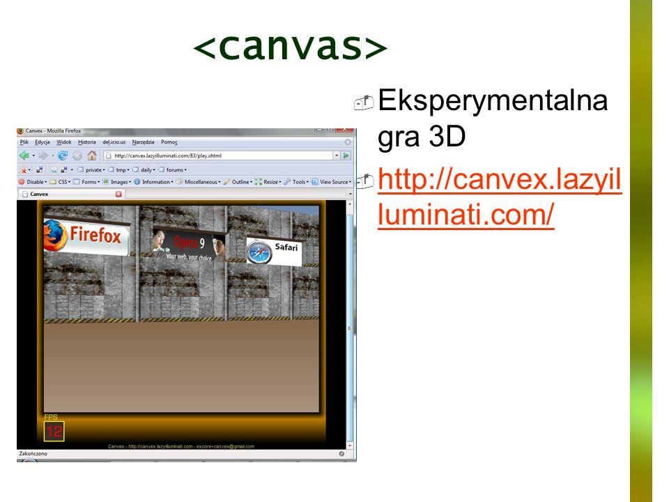 <canvas> Eksperymentalna gra 3D