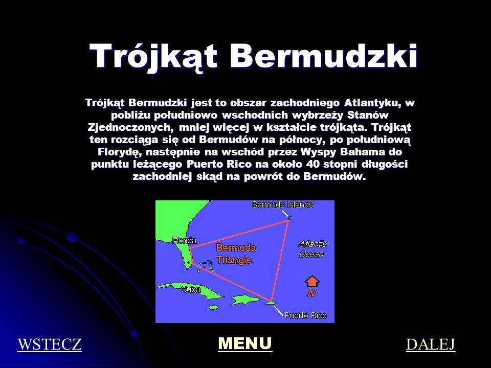 Trójkąt Bermudzki WSTECZ MENU DALEJ