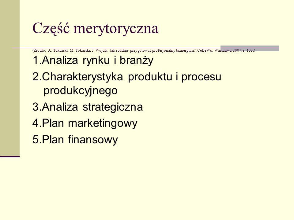 Część merytoryczna (Źródło: A. Tokarski, M. Tokarski, J