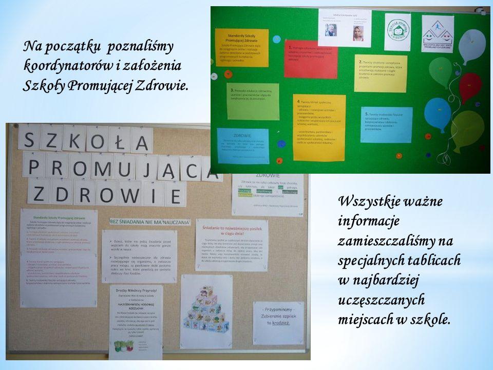 Na początku poznaliśmy koordynatorów i założenia Szkoły Promującej Zdrowie.
