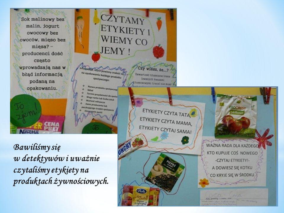 Bawiliśmy się w detektywów i uważnie czytaliśmy etykiety na produktach żywnościowych.