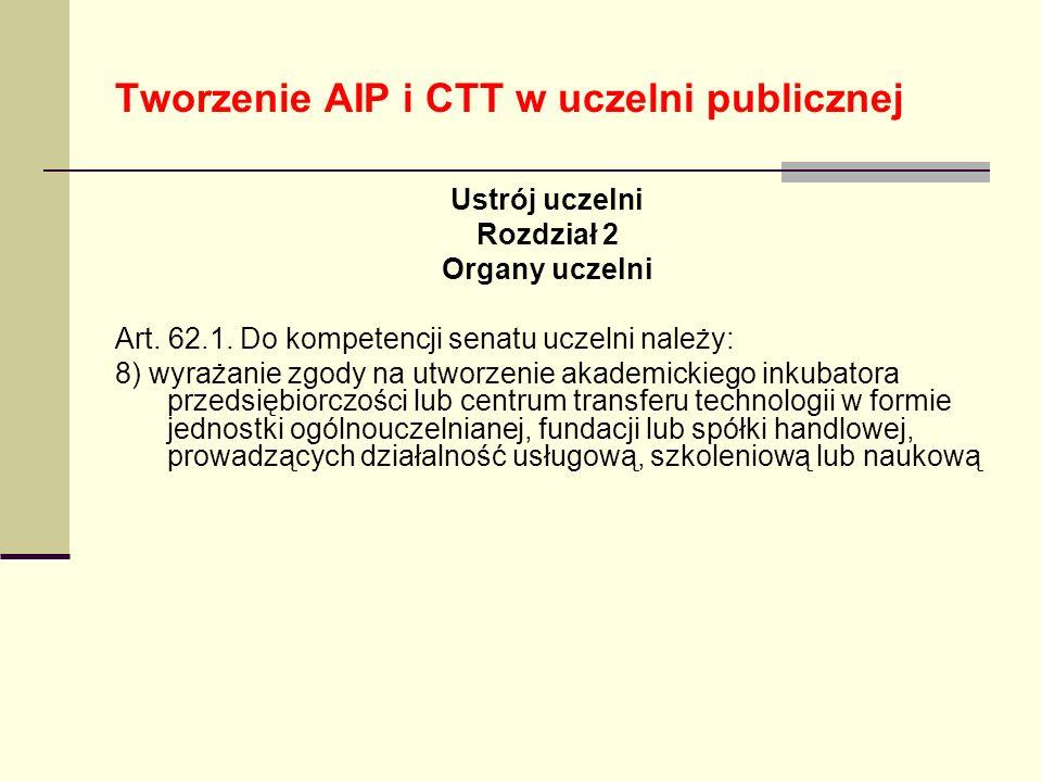 Tworzenie AIP i CTT w uczelni publicznej