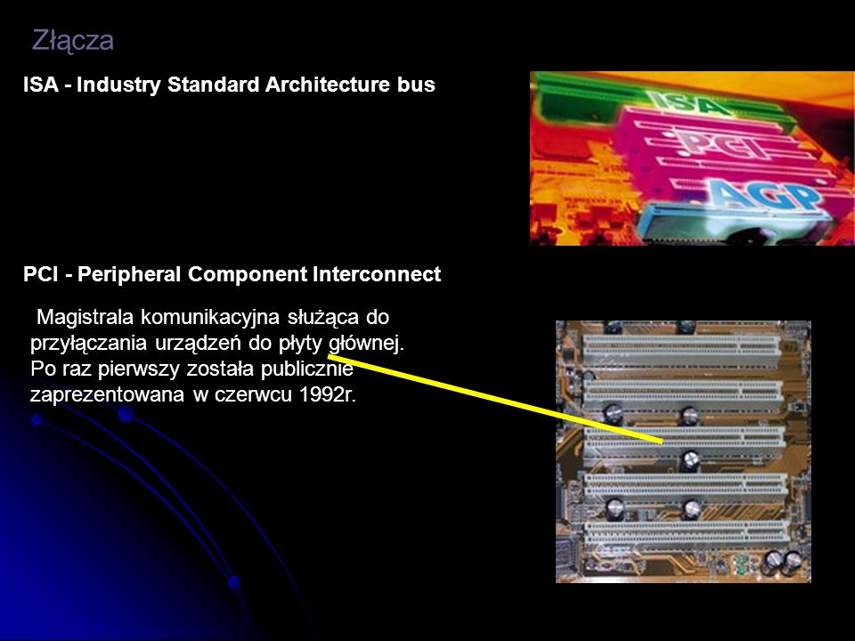 Złącza ISA - Industry Standard Architecture bus
