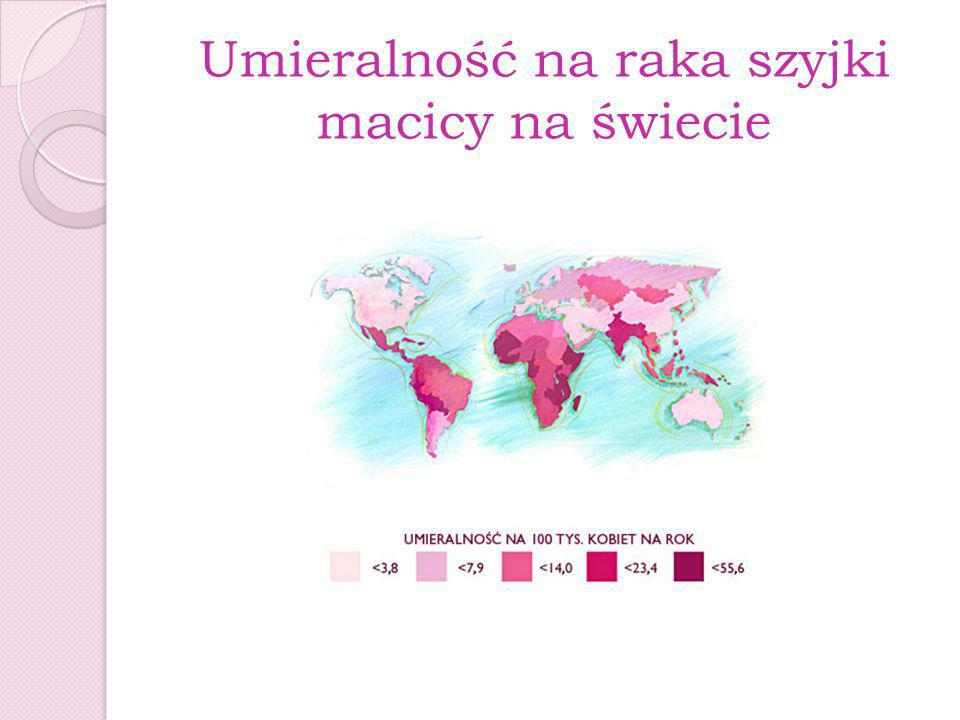 Umieralność na raka szyjki macicy na świecie