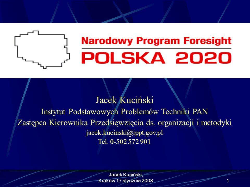 Jacek Kuciński Instytut Podstawowych Problemów Techniki PAN