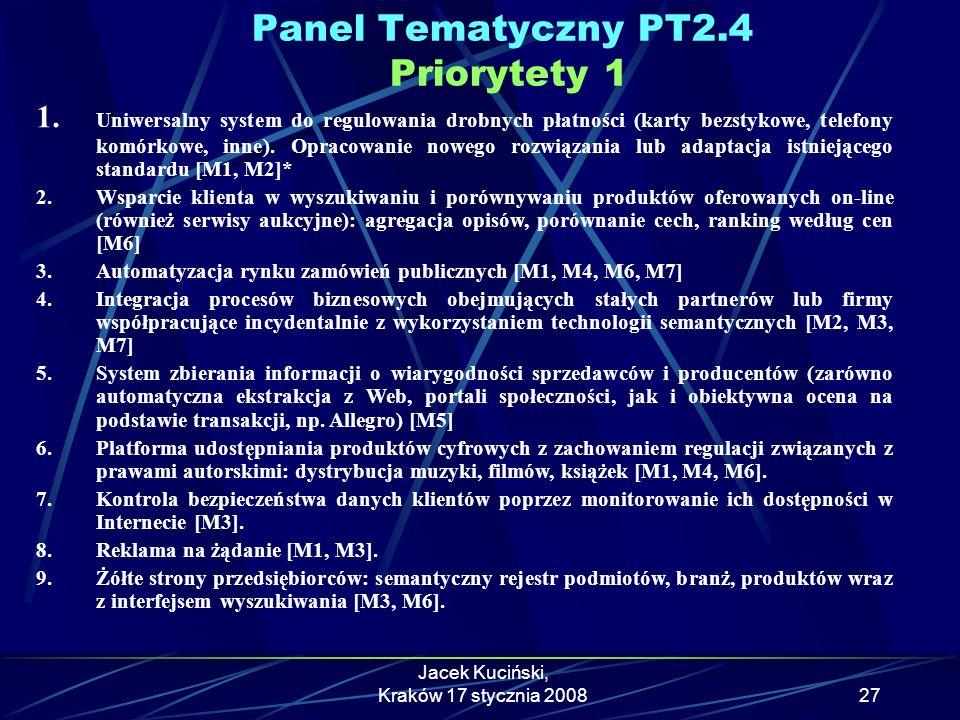 Panel Tematyczny PT2.4 Priorytety 1