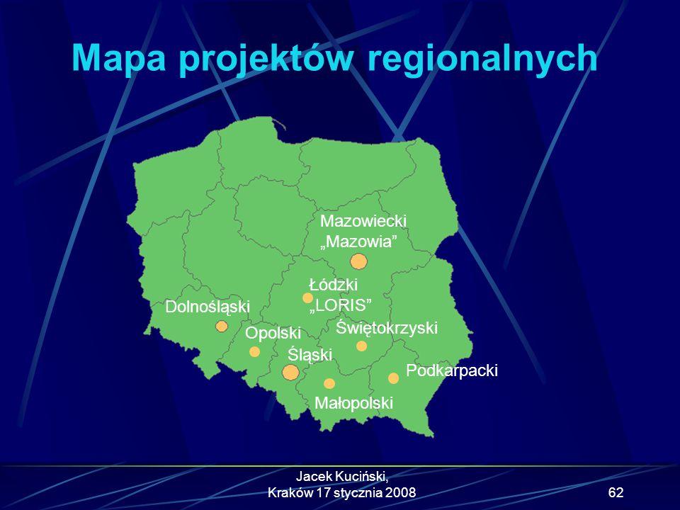 Mapa projektów regionalnych
