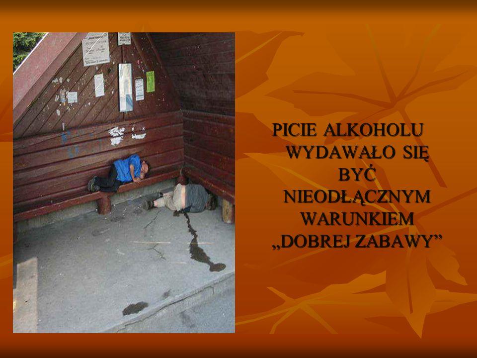 """PICIE ALKOHOLU WYDAWAŁO SIĘ BYĆ NIEODŁĄCZNYM WARUNKIEM """"DOBREJ ZABAWY"""