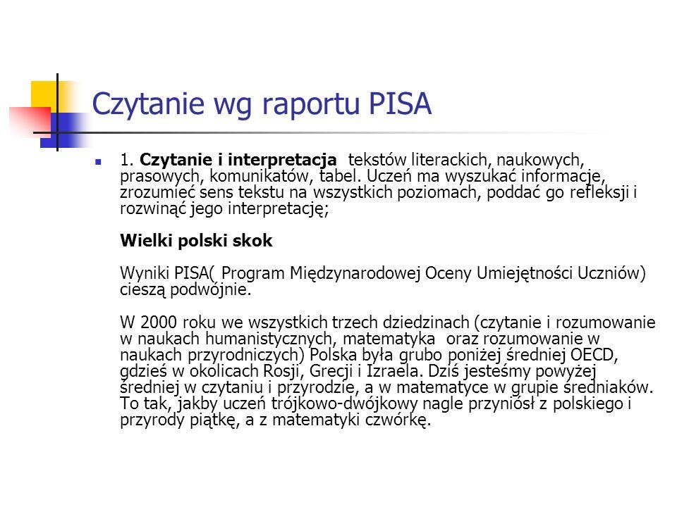 Czytanie wg raportu PISA