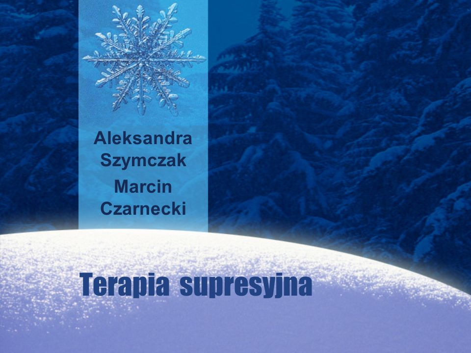 Aleksandra Szymczak Marcin Czarnecki