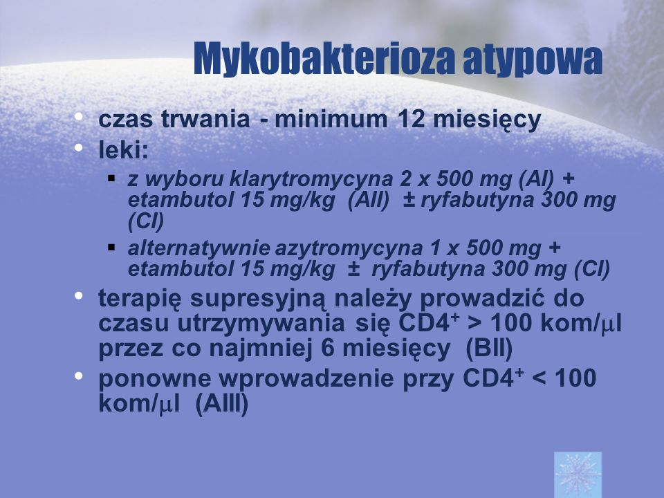 Mykobakterioza atypowa