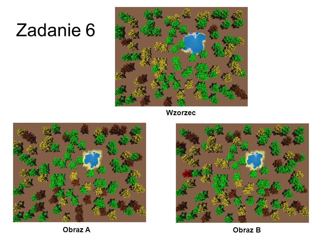 Zadanie 6 Wzorzec Obraz A Obraz B 33
