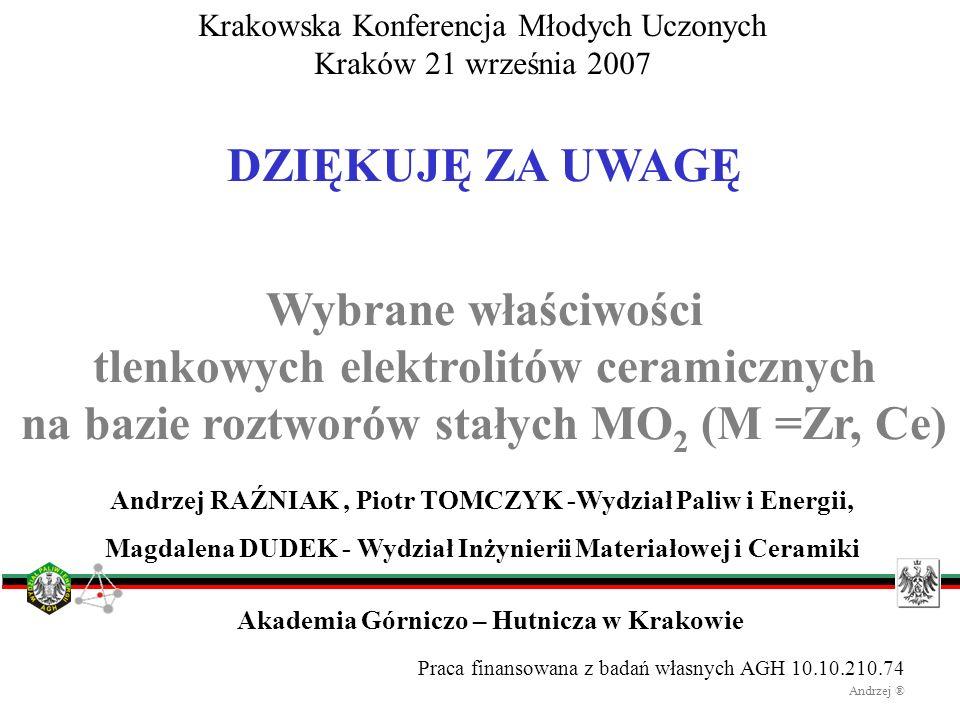 Krakowska Konferencja Młodych Uczonych Kraków 21 września 2007