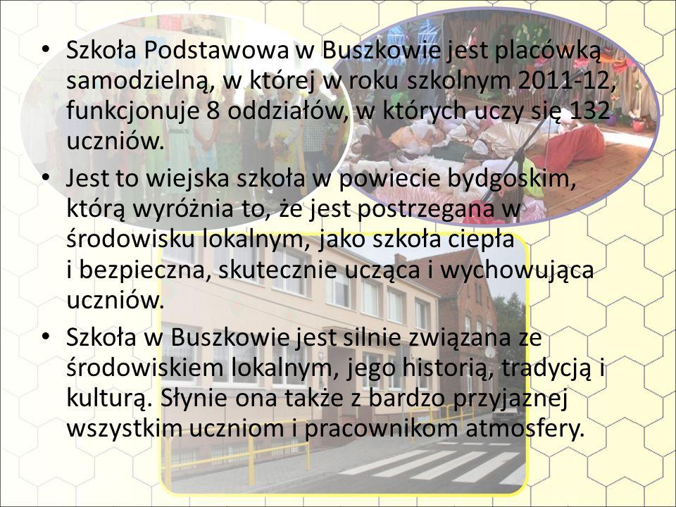 Szkoła Podstawowa w Buszkowie jest placówką samodzielną, w której w roku szkolnym 2011-12, funkcjonuje 8 oddziałów, w których uczy się 132 uczniów.