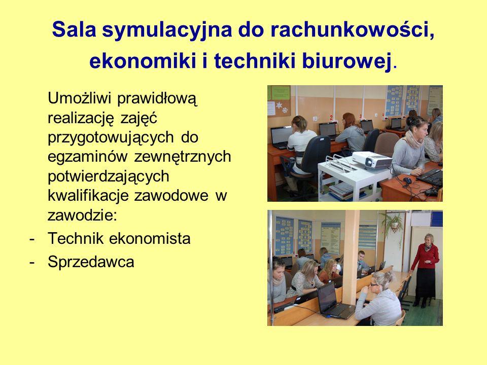 Sala symulacyjna do rachunkowości, ekonomiki i techniki biurowej.
