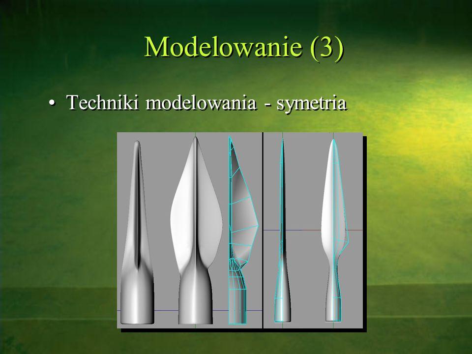 Modelowanie (3) Techniki modelowania - symetria
