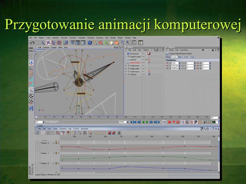 Przygotowanie animacji komputerowej