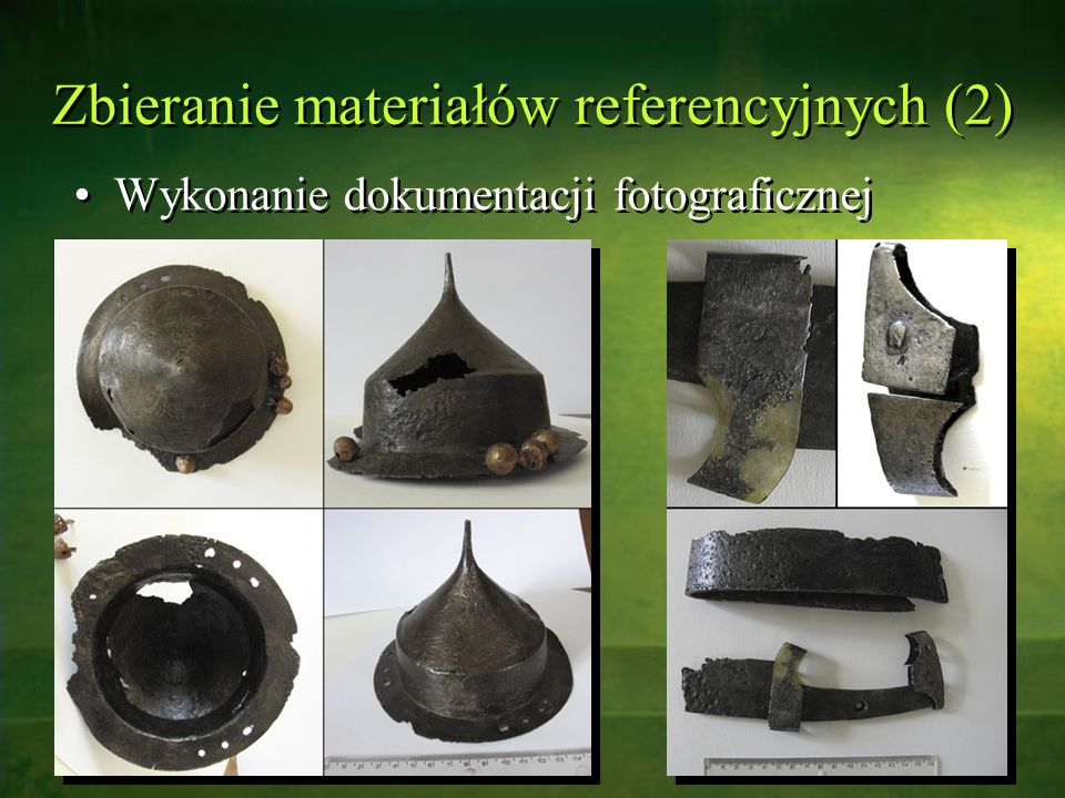 Zbieranie materiałów referencyjnych (2)