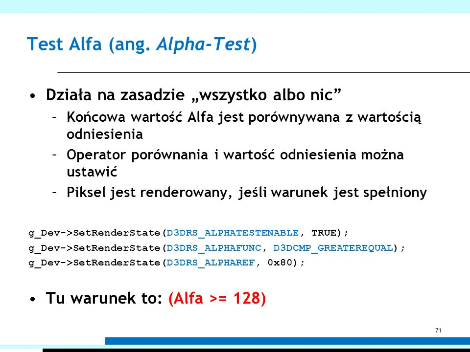 Test Alfa (ang. Alpha-Test)