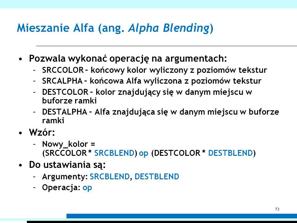 Mieszanie Alfa (ang. Alpha Blending)